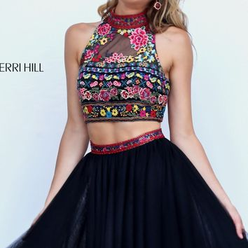 Beaded Two-Piece Mini Dress by Sherri Hill