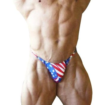 Men Bodybuilding Posing Trunks Fitness Briefs Gyms Underwear Sexy Briefs Nylon Lycra Workout For Male Muscle Shorts