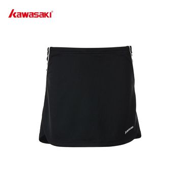 KAWASAKI  Women's Tennis Skirts Quick Dry Running Cycling Badminton  Fitness Skort for Girls Sports Skirts Black Blue  SK-T2703