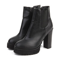 Elastic Point Ankle Boots