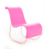 1 Pcs Pink Rocker Toys For Doll's House Decoration Rocking Chair for Barbie Doll Parts Accessories