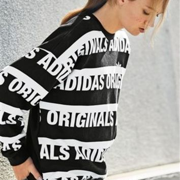 Buy adidas Originals Black And White Trefoil Sweat Top from the Next UK online shop