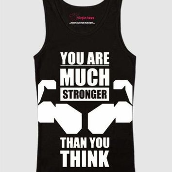 You Are Much Stronger Printed Tank Top