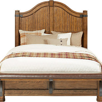 Eric Church Highway To Home Heartland Falls 3 Pc Queen Panel Bed - Queen Beds Dark Wood