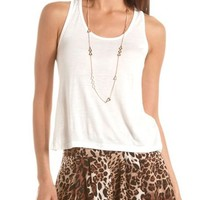 Knotted Racerback Knit Tank: Charlotte Russe