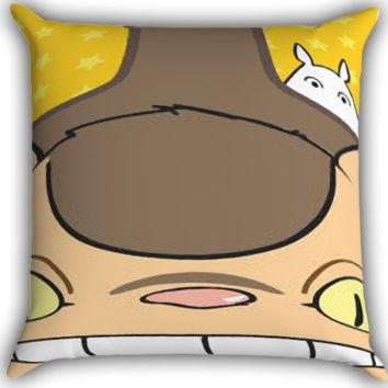 Totoro CATBUS Tabby Cat Zippered Pillows  Covers 16x16, 18x18, 20x20 Inches