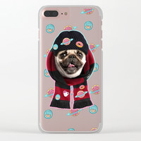 Pug Life Style Clear iPhone Case by lostanaw