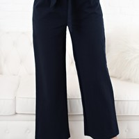 Something To Tell You High Waisted Pants (Navy)