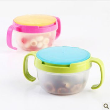 2015New Hot Infants Kid 360 Rotate Spill-Proof Bowl Dishes Tableware Baby Snack Bowl Food Container Feeding Children Assist Food