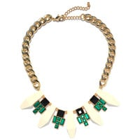 Ivory Deco Geo Bib | Jeweliq Statement Necklaces