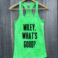 Miley, What's Good? Nicki Minaj Gym Gift Marathon Burnout Racerback Tank Top