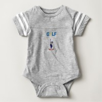 BABY FOOTBALL BODY SUIT--GOLF BABY BODYSUIT