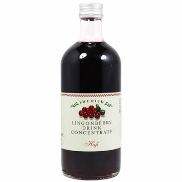 Swedish Lingonberry Syrup by Hafi 17 oz