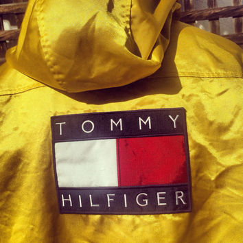 TOMMY HILFIGER Jacket Yellow Shiny SWAG