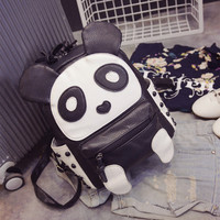 Casual Stylish College On Sale Hot Deal Comfort Back To School Lovely Panda Rivet Patchwork Backpack [6581807687]
