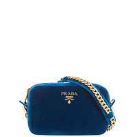 Prada Velvet Zip-Top Chain Shoulder Bag