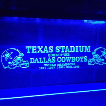 Dallas Cowboys Texas Stadium LED Neon Light Sign - 7 colors available