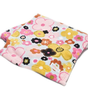 Jr. Delightful Patterns Toddler Blanket with Brightly Colored Pansies