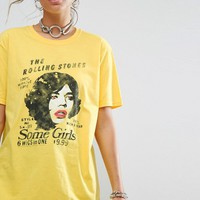 Reclaimed Vintage Inspired T-Shirt With Rolling Stones Print at asos.com