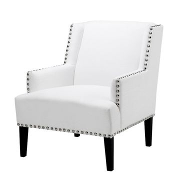 White Lounge Chair | Eichholtz Club Randall