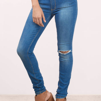 RES Denim Kitty Slash Skinny Jeans