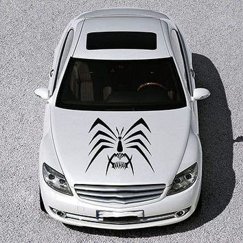EVIL SPIDER ANIMAL, DESIGN HOOD CAR VINYL STICKER DECALS ART MURALS SV1159