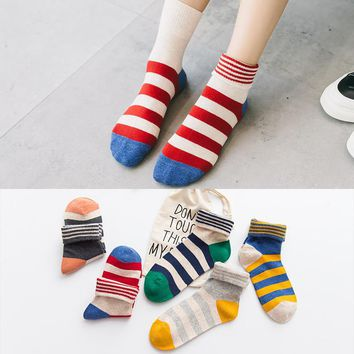 Autumn Winter Thick Socks For Women Cotton Sock Candy stripe Cute Socks Female Sox Ladies Meias Mujer 2018 N
