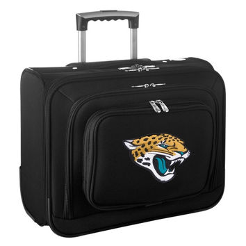 Jacksonville Jaguars Carry-On Rolling Laptop Bag - Black - http://www.shareasale.com/m-pr.cfm?merchantID=7124&userID=1042934&productID=540324404 / Jacksonville Jaguars