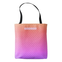 Personalized Sunset Circle Star Tote Bag