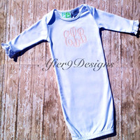 Infant gown Baby Boy or Girl by AfterNineDesigns on Etsy