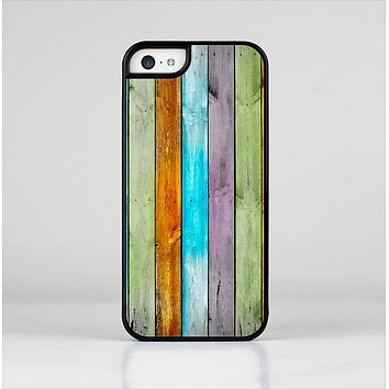 The Vintage Colored Wooden Planks Skin-Sert for the Apple iPhone 5c Skin-Sert Case