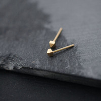 Mini miniature studded Silver or Vermeil pyramid studs