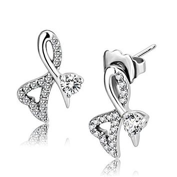 .50CT Round Cut Russian Lab Diamond Solitaire Platinum Stud Earrings