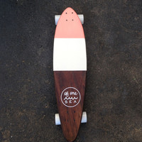 Hand-Crafted Skateboard in Pink Coral
