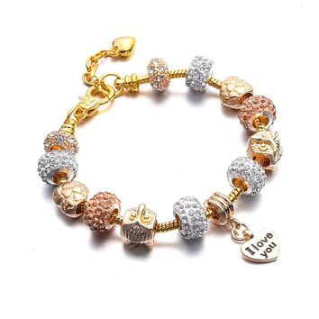Love Heart Charms Bracelet