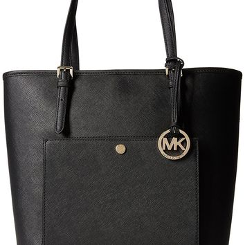 MICHAEL Michael Kors Jet Set Large Top Zip Snap Pocket Tote