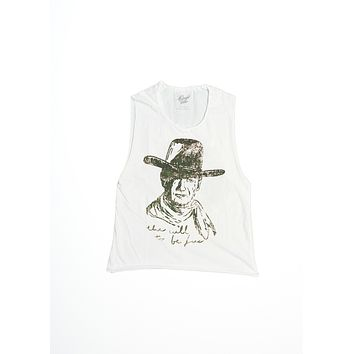 The Will To Be Free Muscle Tee - Coconut