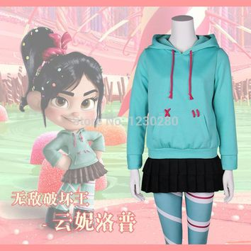 Cool Vanellope von Schweetz Costume Ralph Breaks the Internet Wreck-It Ralph 2 Vanellope Wreck It Ralph Cosplay CostumeAT_93_12