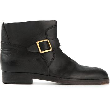 Golden Goose Deluxe Brand buckled flat boot