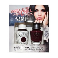 Gelish Gel Polish & Morgan Taylor Nail Polish Duo Let Kiss & Warm Up 1410281
