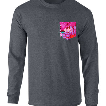 Phi Mu Long Sleeve Pocket Tee