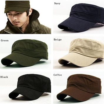 NewClassic Plain Vintage Army Cadet Style Cotton Cap Hat Adjustable hats for men cap men baseball cap men casquette homme