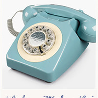 746 classic phone French blueby Wild & Wolf - Bird on the wire
