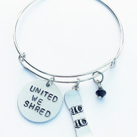 United We Shred Charm Bracelet - Customize Your Charm