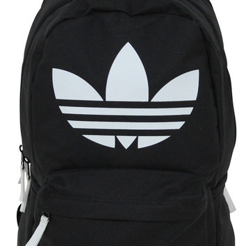 Adidas Originals Burns Backpack Bag Gym Trefoil Logo - One Size / Black/Lime Green