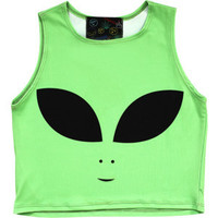 Alien Head Crop Top