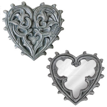 Alchemy Gothic The Vault Heart Compact Mirror