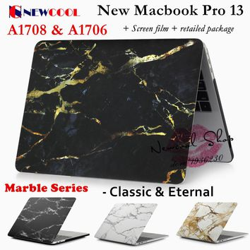 Marble Series Laptop Case for Apple Macbook Pro 13 Release 2016 A1706 & A1708 Laptop CASE Notebook Protective cover shell bag