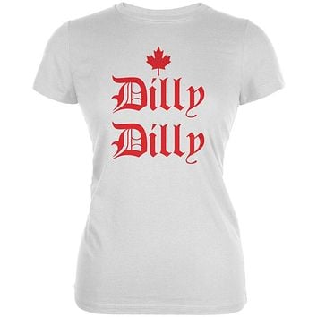 Dilly Dilly Canada Day Flag Maple Leaf Juniors Soft T Shirt