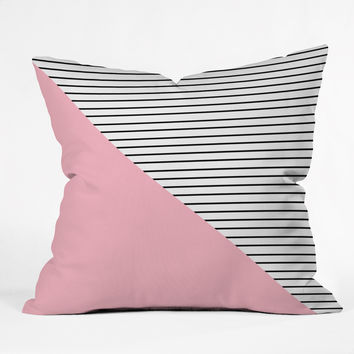 Allyson Johnson Pink n stripes Throw Pillow